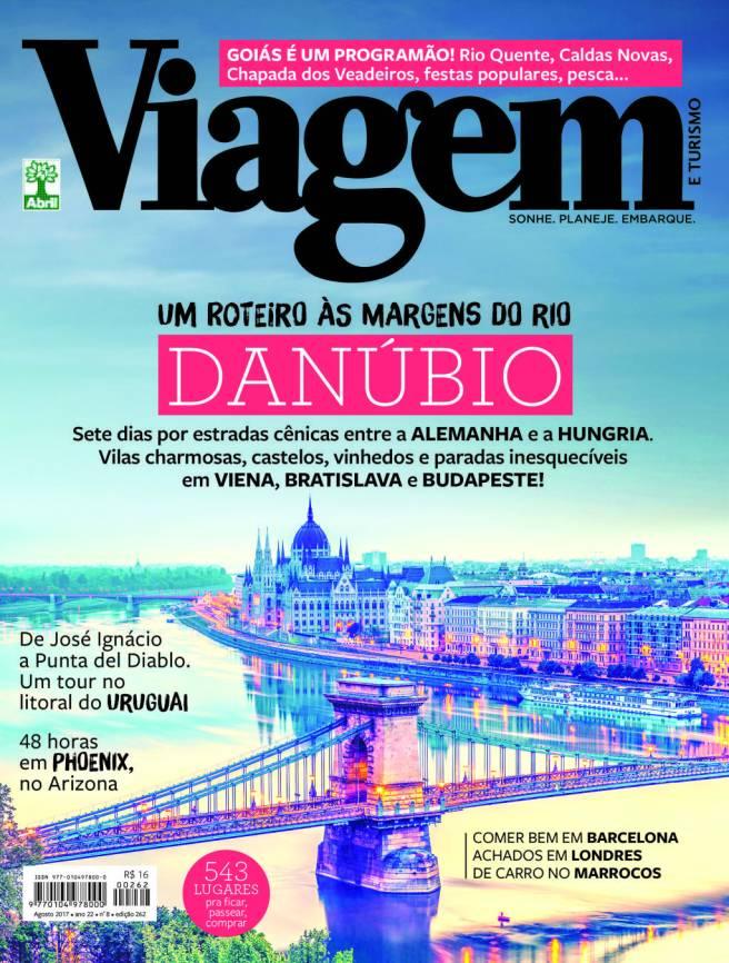 Capa da Revista Viagem e Turismo, Agosto de 2017.