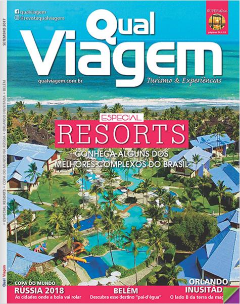 Capa da Edição 46 (Setembro de 2017) da revista Qual Viagem.