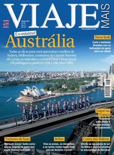 Capa da Revista Viaje Mais - Outubro de 2017.